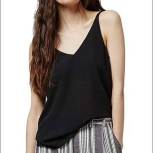 Topshop • black Double Strap V-Back Camisole